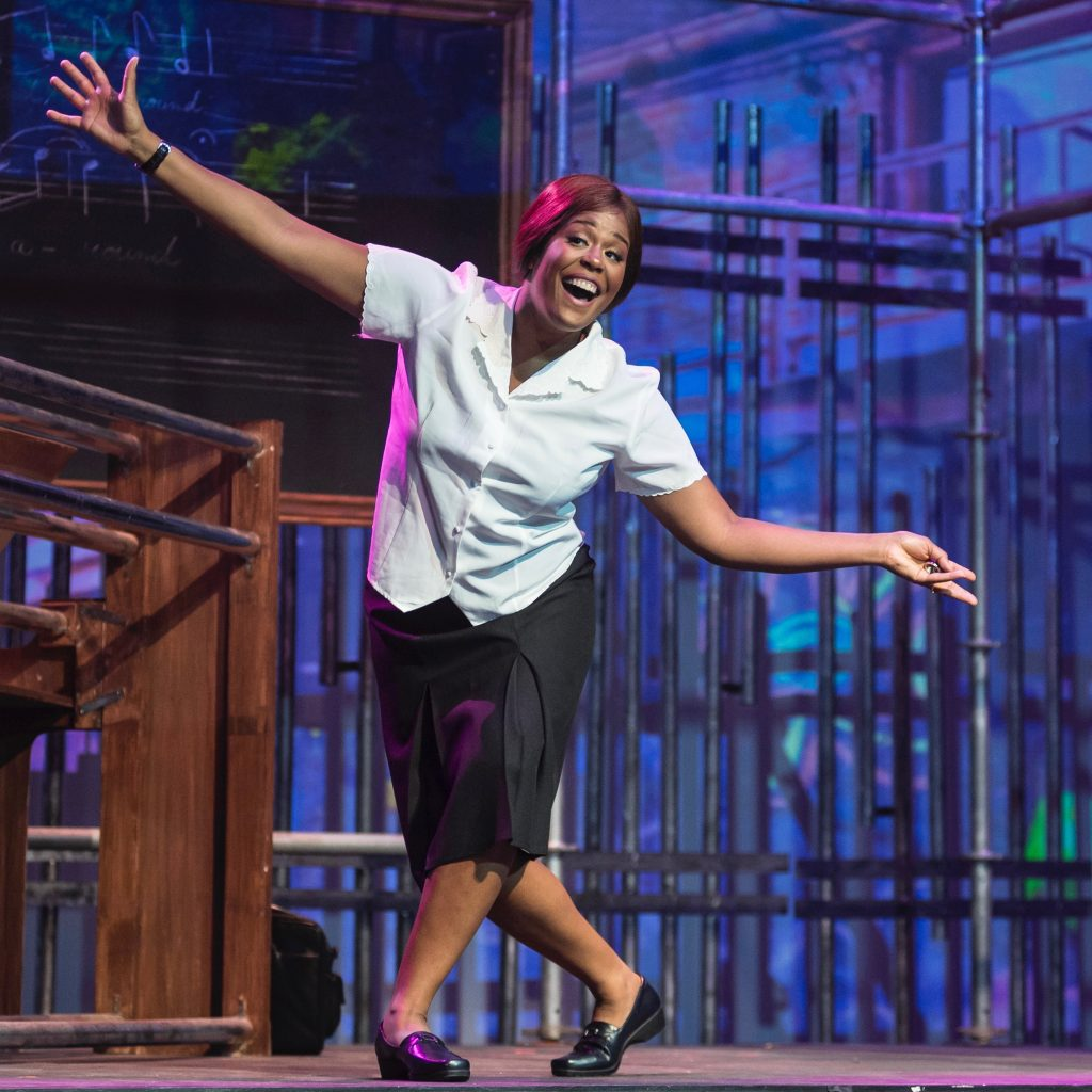 Brittany Robinson performs the role of Sister Rose in the opera Dead Man Walking